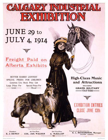 Calgary Industrial Exhibition 1914 Vintage Posters