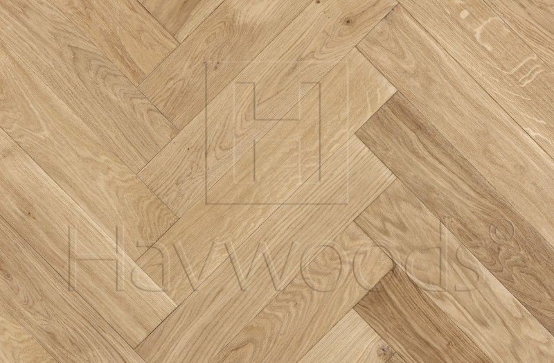 Hw691 Oak Nature Unfinished Select Grade Herringbone Engineered
