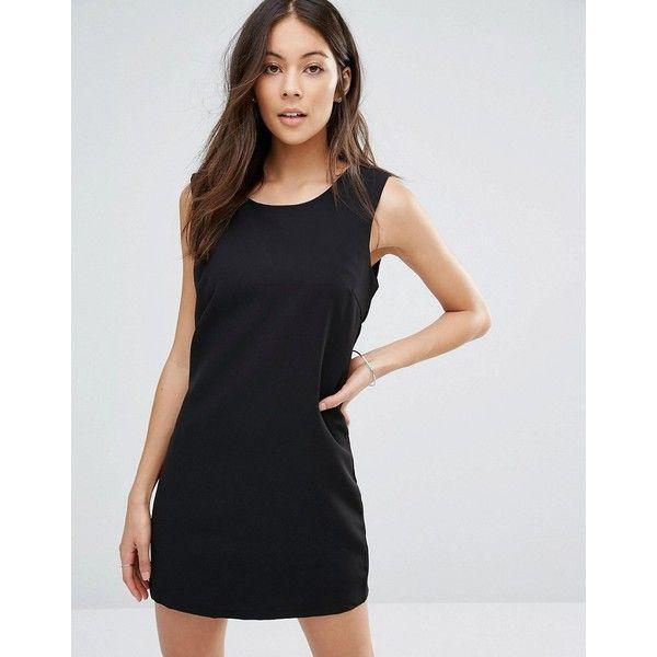 Unique 21 Little Black Dress ($28) ❤ liked on Polyvore featuring dresses, black, sleeveless dress, braid dress, tall dresses, round neck dress and round neck sleeveless dress