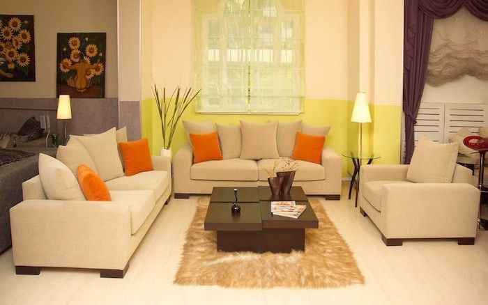 Wohnzimmer warme Farben gestalten Wohnzimmer u2013 Einrichtungsideen - wohnzimmer gestalten orange