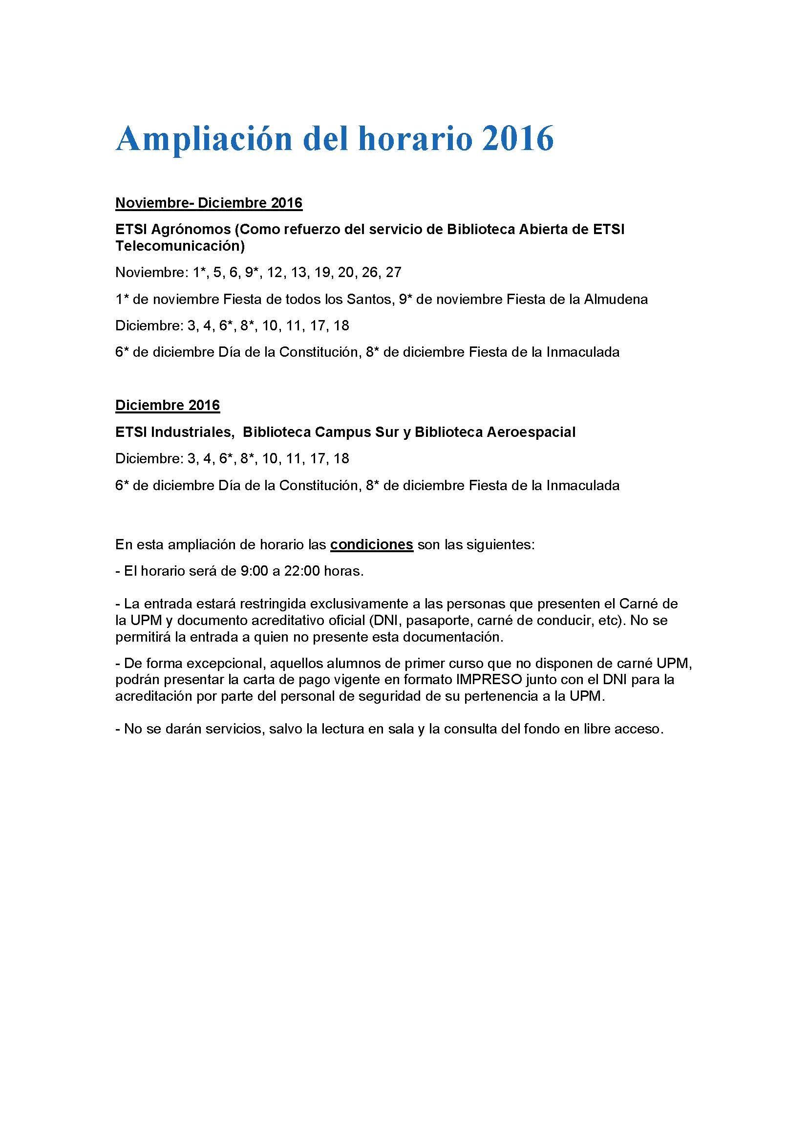 APERTURA DE ESCUELAS EN HORARIO EXTRAORDINARIO