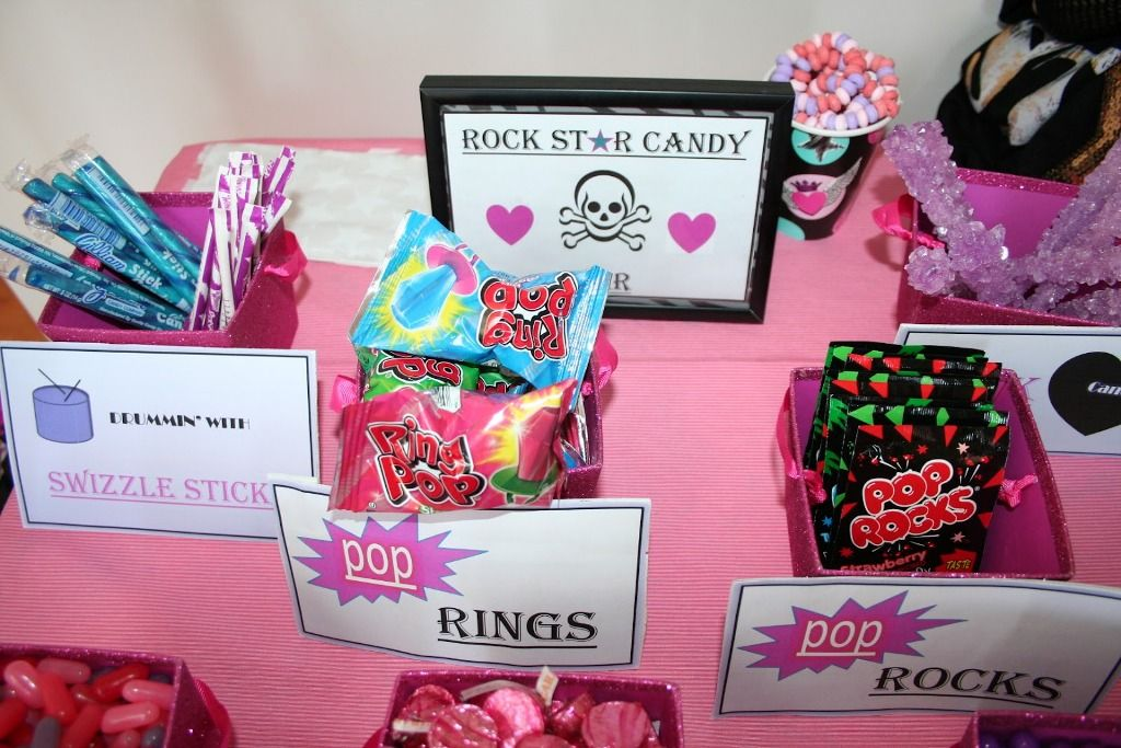 Rock Star Birthday Party Ideas Favors