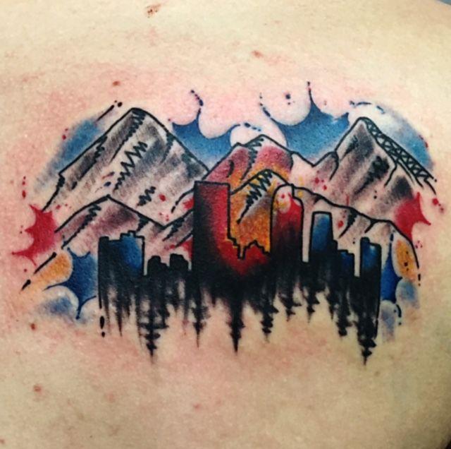 Photo of 70 Breathtaking Mountain Tattoos Design – Mens Craze #mountaintattoo colorado mo…