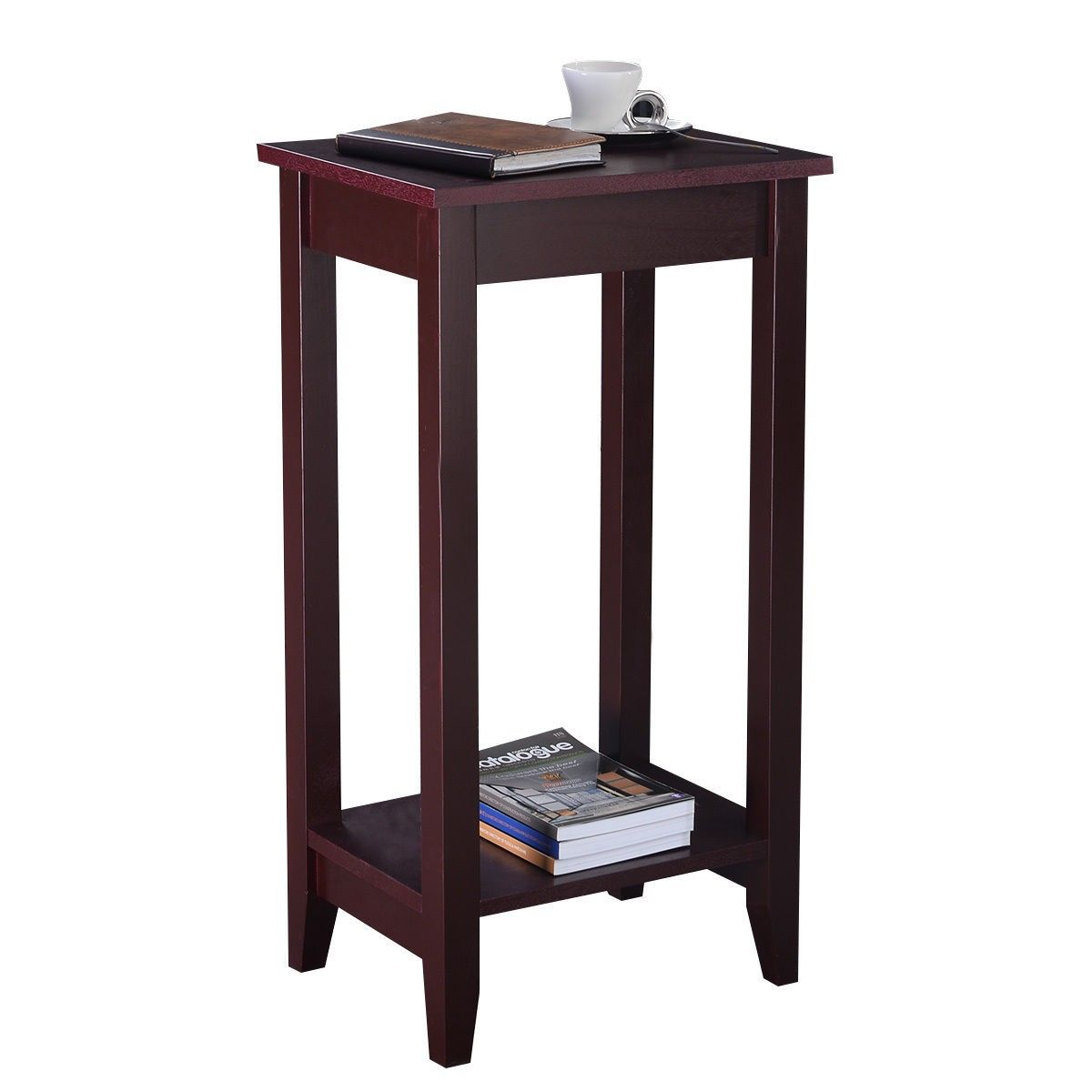 Tall Wooden Sofa End Table Side Table In 2020 Tall End Tables Wood End Tables End Tables