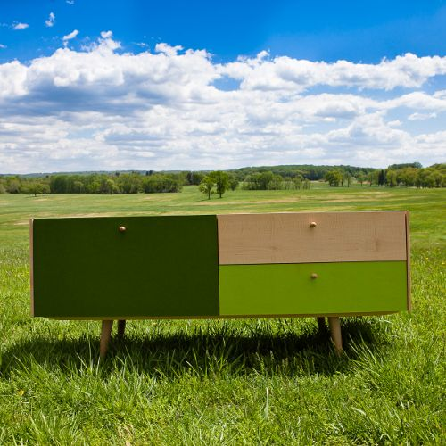 Iannone Designs,  Wooly Media Console.