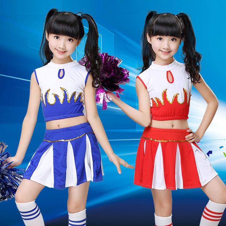 Children Cheerleaders Girl School Team Uniforms Kid Graduation Kids  Performance Costumes Sets Girls Class Suit Girl School Suits 3dd6d1c59