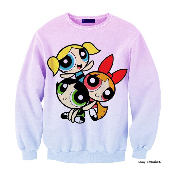 Cartoon Character Graphic Hoodie ($13) ❤ liked on Polyvore