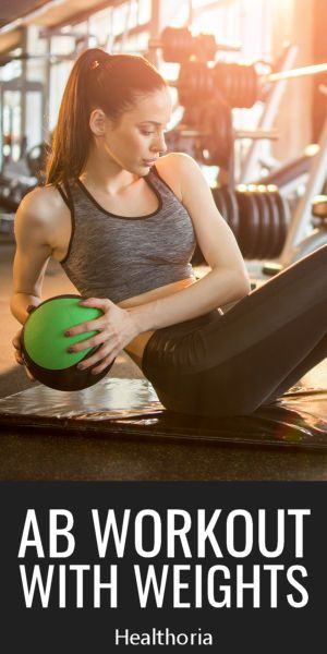 Ab workout with weights.  If your abs are flat, and aren't popping, you can get better results by ad...