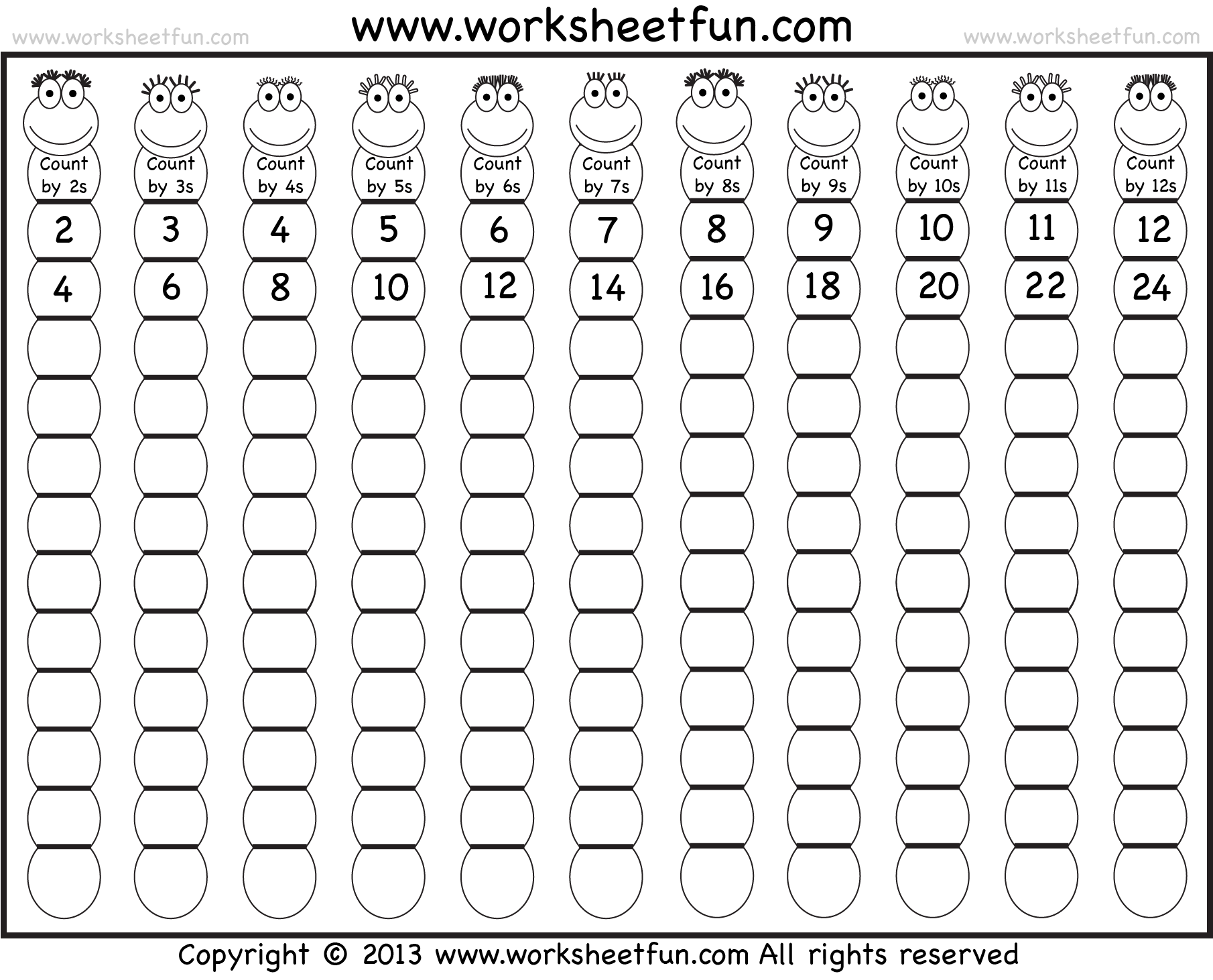 worksheet Skip Count skip counting cc cycle 1 pinterest arbeidsark counting
