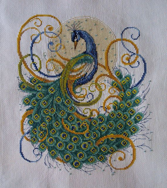 """Completed Cross Stitch 100% Hand-made Design count: 143sts wide X 169sts high     Fabric Size: 39cm X 46cm / Inch: 15"""" X 18""""         Fabric: 11-count white aida"""