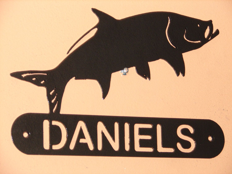 Tarpon Fish ADDRESS / NAME PLAQUE Sign Home Decor Wall House Metal ...