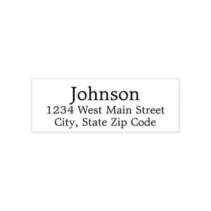 Simple Return Address Label Self Inking Stamp