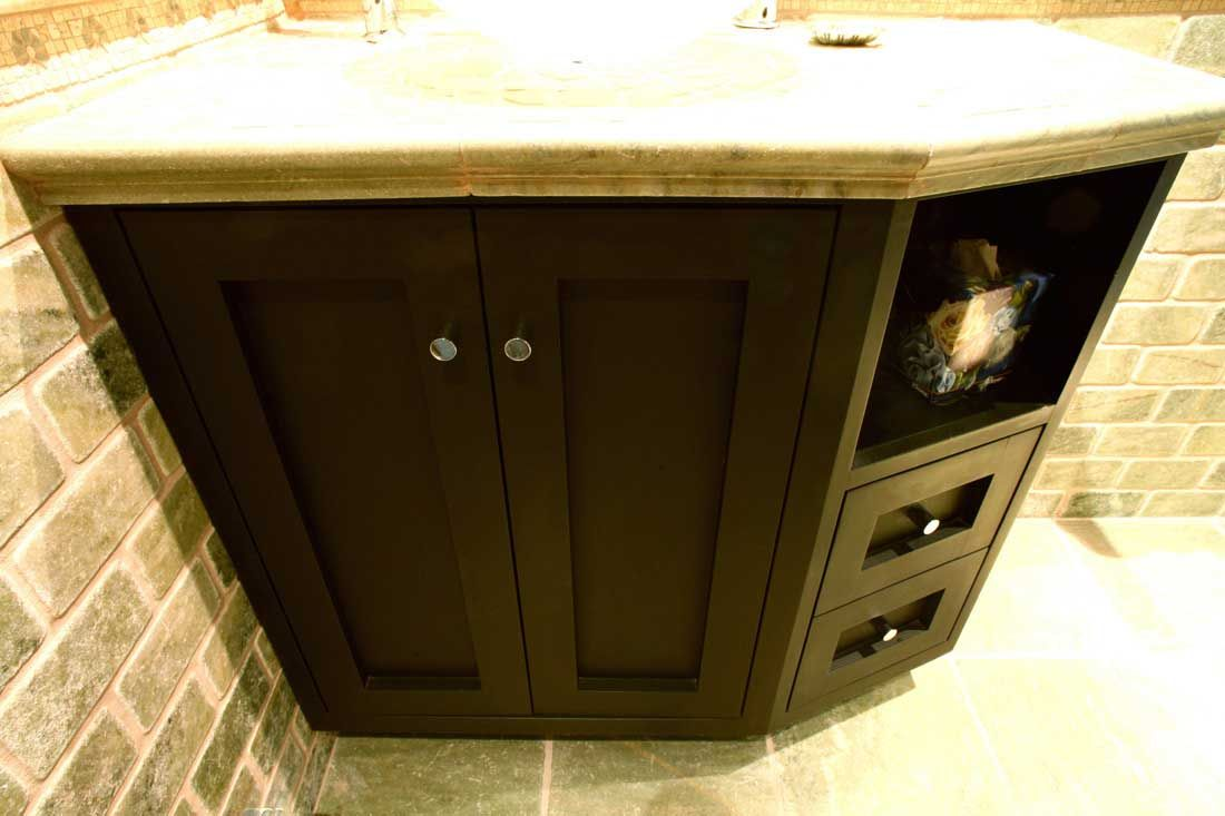 Awesome Angled Vanity To Save Space In Bathroom Vanity