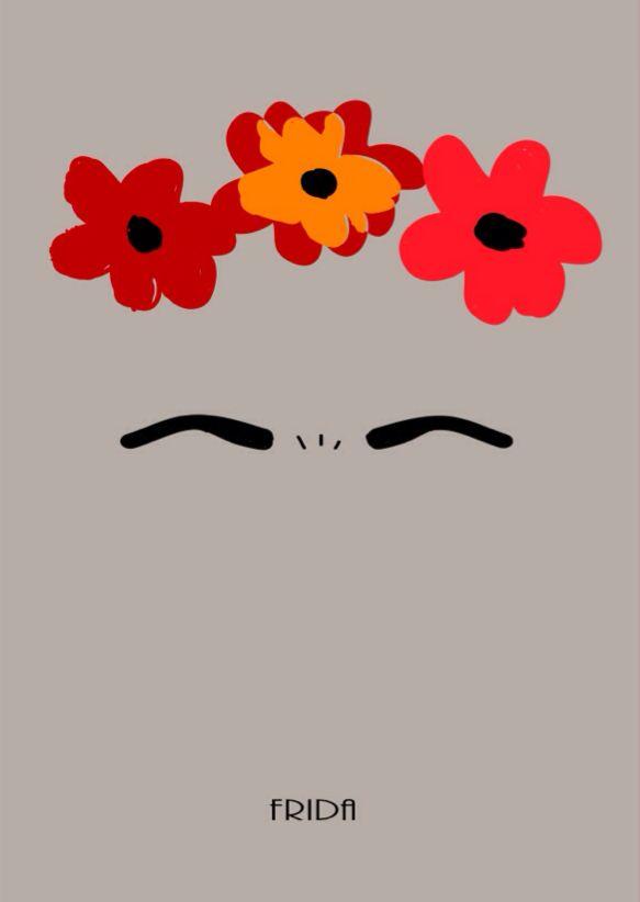Frida Kalho minimal poster