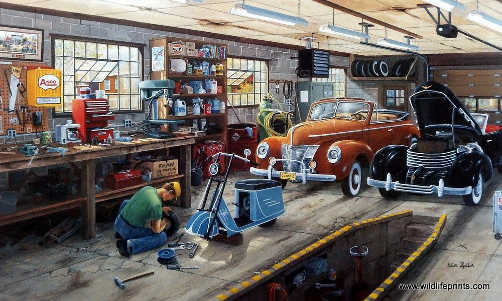 Ken Zylla Forty Ford And A Cord | Pinterest | Car shop, Motor ...