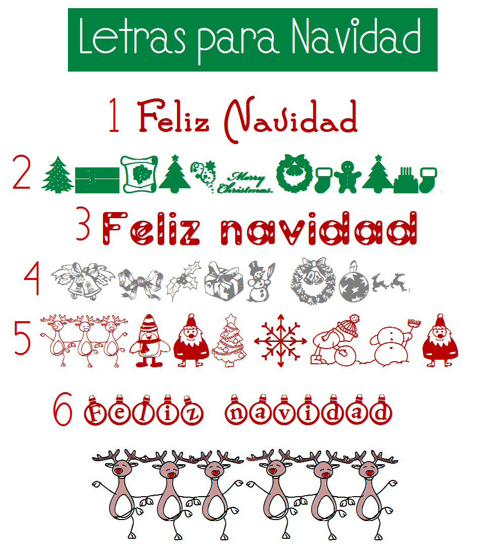 Letras Para Navidad Fuentes De Navidad Tarjetas Para Fiestas Navideñas Letras