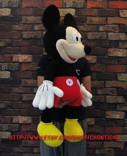 Mickey Mouse 35 inches - PDF amigurumi crochet pattern | Pinterest ...