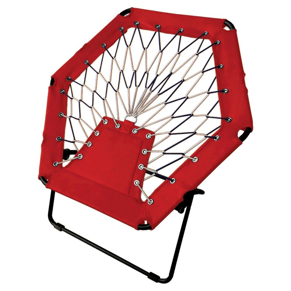Pdg Folding Bungee Camp Chair Red Bungee Chair