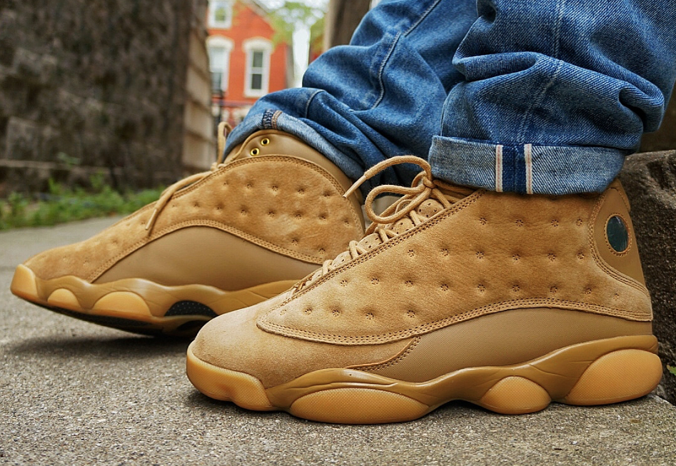 innovative design d1e47 dc64e The Air Jordan 13 Wheat is featured in a lifestyle look and it s dropping  on November