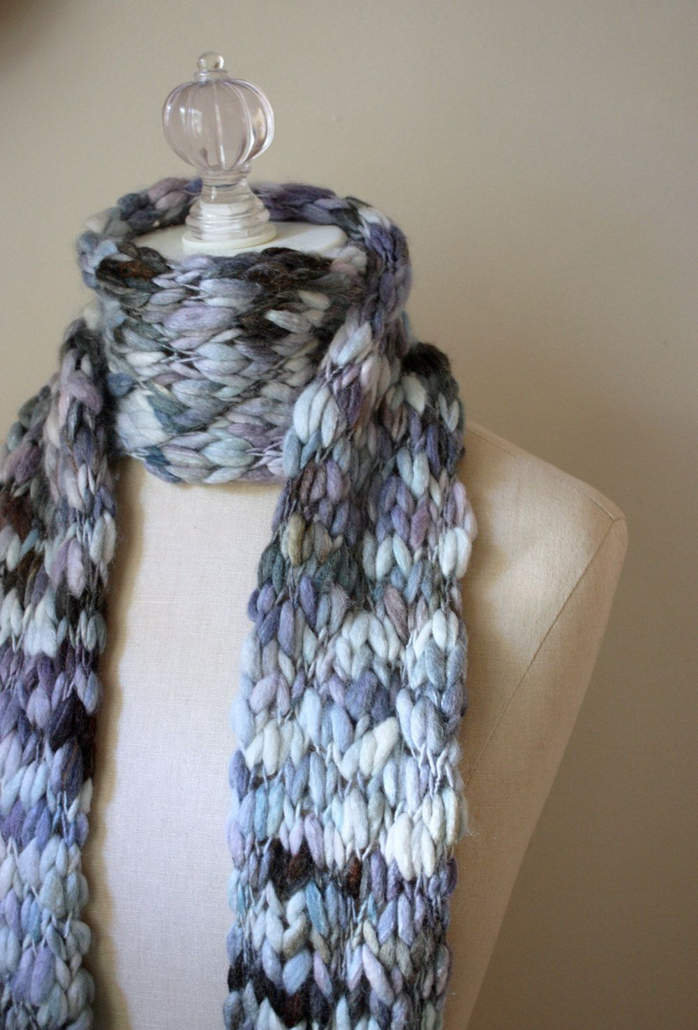 thick and thin hand knit scarf by phydeaux designs | Patterns ...