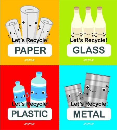 Recycling Sticker Set ...