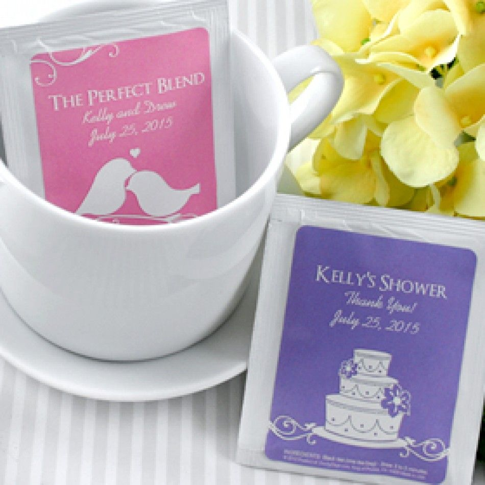 Silhouette Collection Personalized Tea Bag Favors [337-5254000 ...
