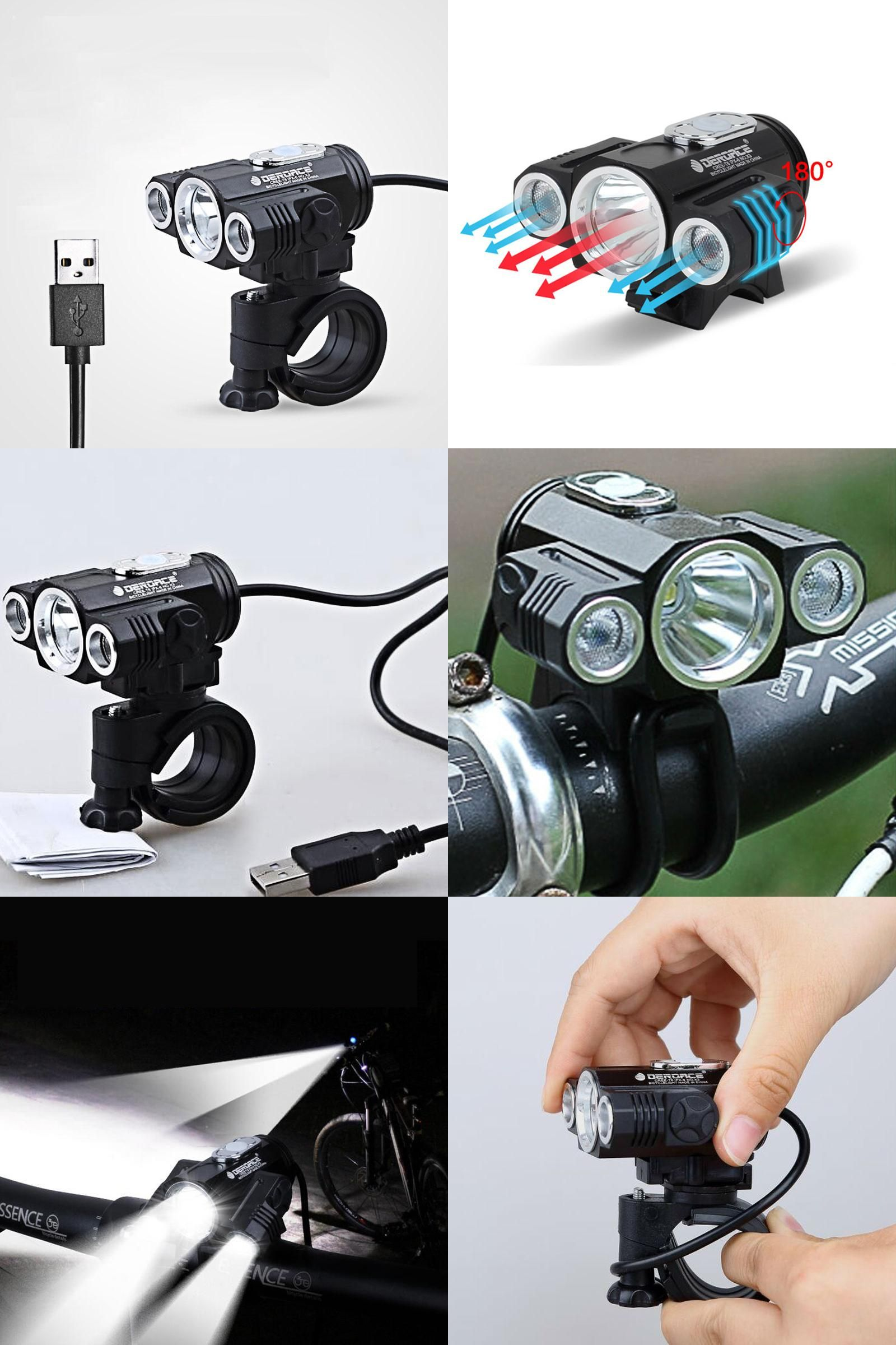 Flashlight Rechargeable LED Sports Bicycle Accessories Cycling Bicycle Lights