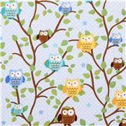 blue dotted owl fabric Riley Blake Snips and Snails