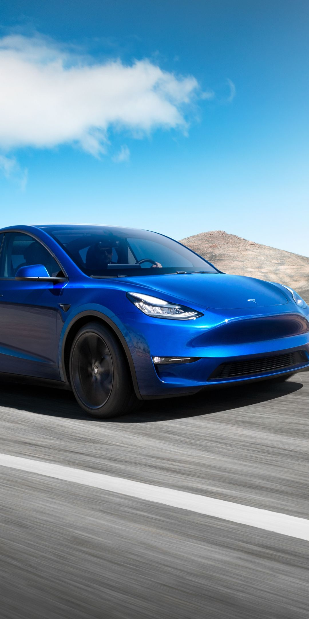 Tesla Model Y Blue Compact Suv 2019 1080x2160 Wallpaper Compact Suv Tesla Model Tesla