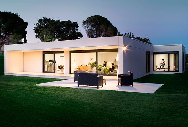 Casa prefabricada de hormig n homm casas modulares for Casa moderna hormigon