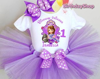 50cc24c4e Items similar to Sofia the First Birthday Tutu Set on Etsy | Aaliyah ...