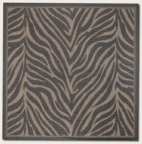 8'6 Square Area Rug Zebra Pattern in Black and Cocoa 8'6 Square. Area Rugs. Area Rugs->8 feet square. Some assembly may be required. Please see product details..  #Couristan #Furniture