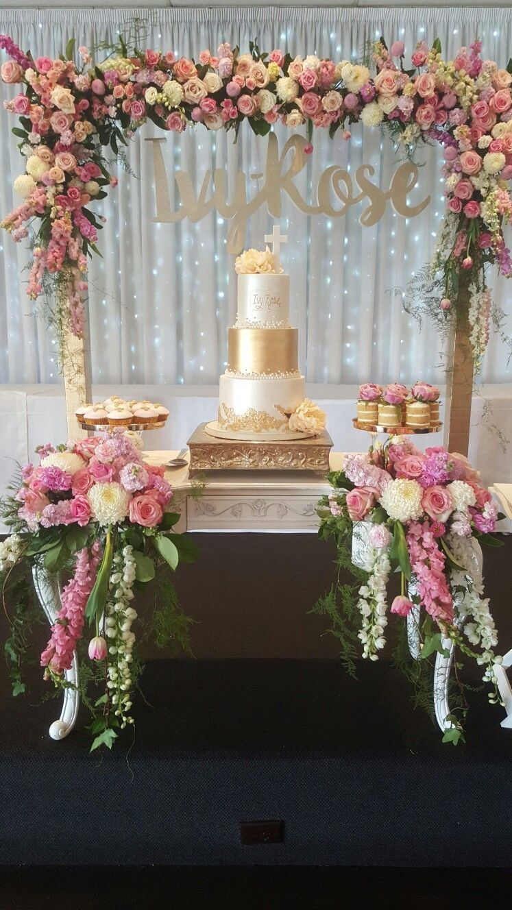 Pin By Sal Jaber On 15 Fabi Wedding Cake Table Cake Table Decorations Simple Bridal Shower