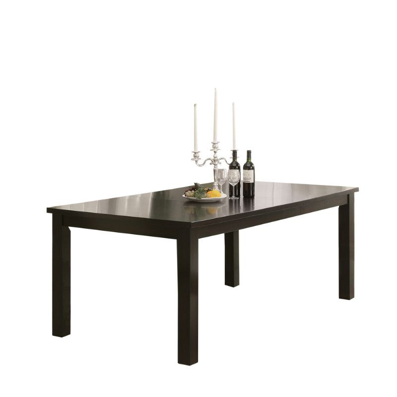 Dining Table 40 X 60 X 78 Espresso Top With A Leaf Dining