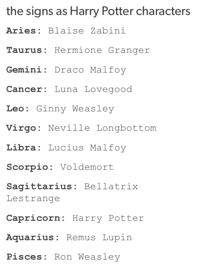 Holdmedowwn Harry Potter Zodiac Zodiac Signs Funny Zodiac Sign Traits