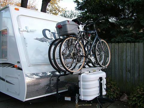 Tongue Mounted Bike Rack Rv Bike Rack Bike Rack Tent Trailer