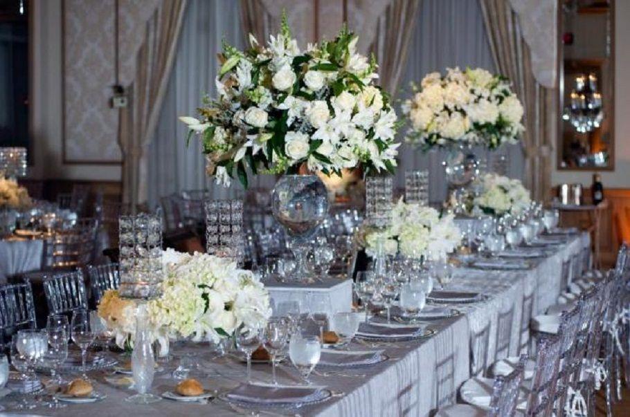 Table Decoration 25th Wedding Anniversary Decorations Ideas Design Decors