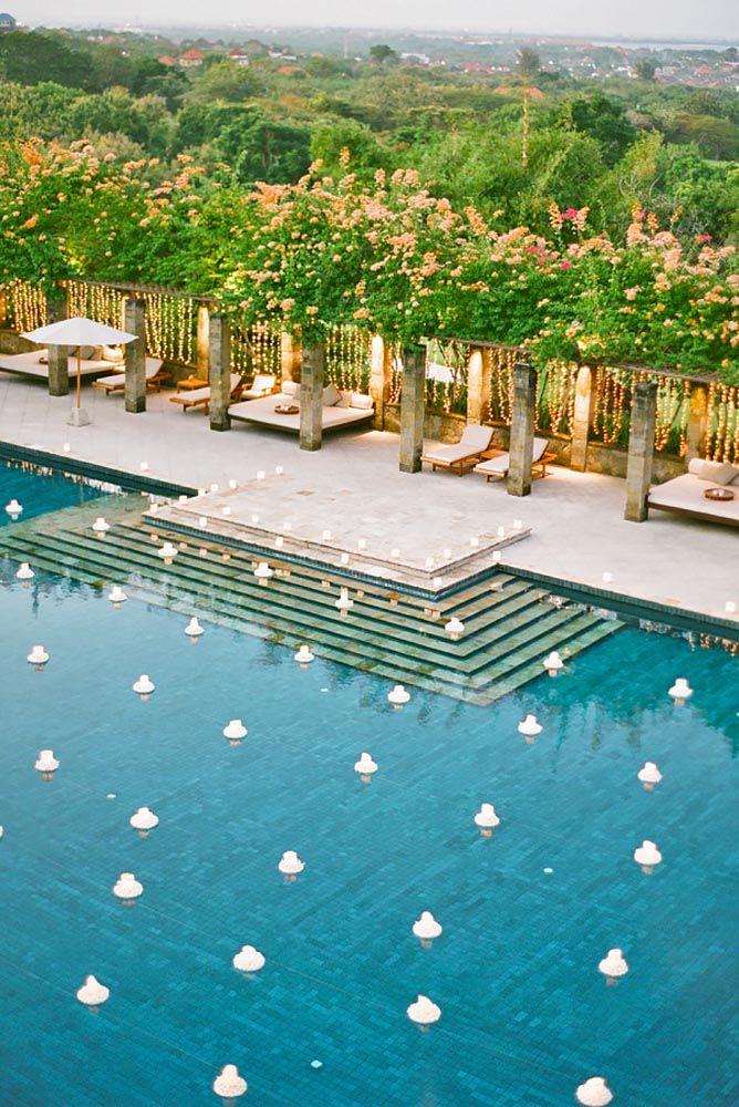 21 Wedding Pool Party Decoration Ideas For Your Backyard Wedding