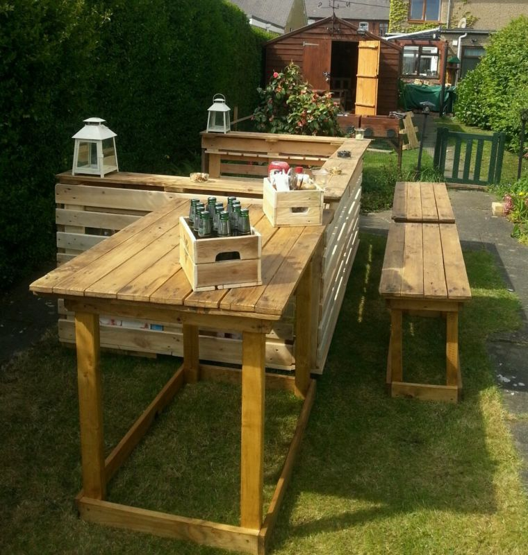 garden bar pub area with glassholders rustic all weather wood rh pinterest com