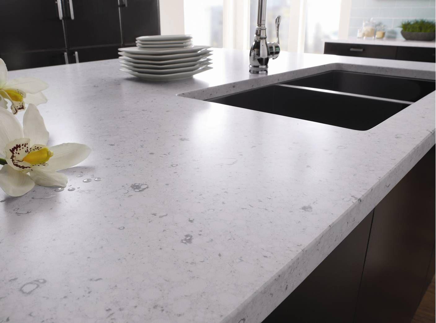 Silestone Bianco Rivers Kuchenarbeitsplatte Arbeitsflachen Quarzstein Arbeitsplatte