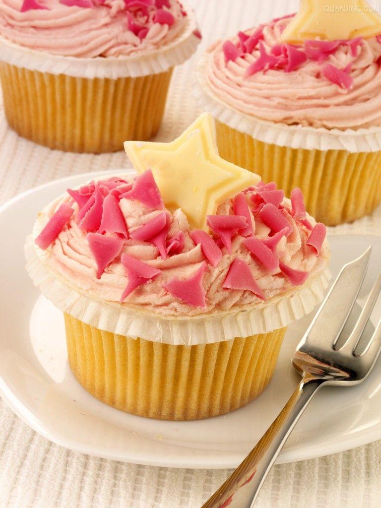pink star cupcake
