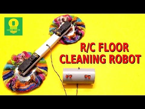 How to make a Remote Controlled Floor Cleaning Robot at home