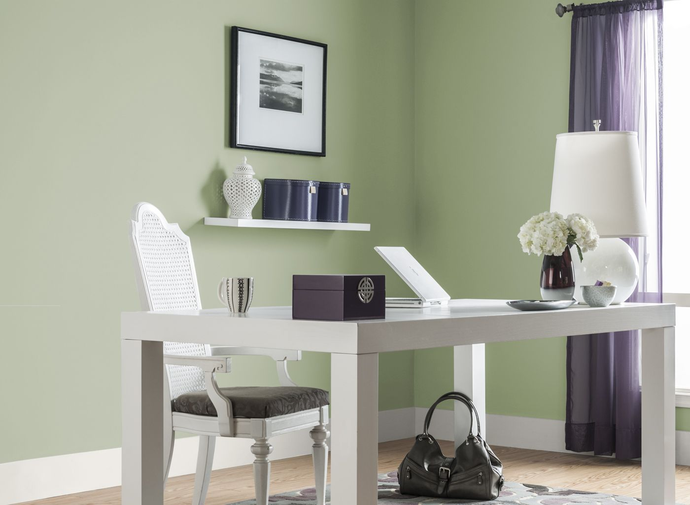 Office In Soft Sage Green Color Home Offices Rooms Pertaining To Room Painting With Ward Log Homes