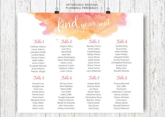 wedding seating plan wedding seating sign by weddingfusions