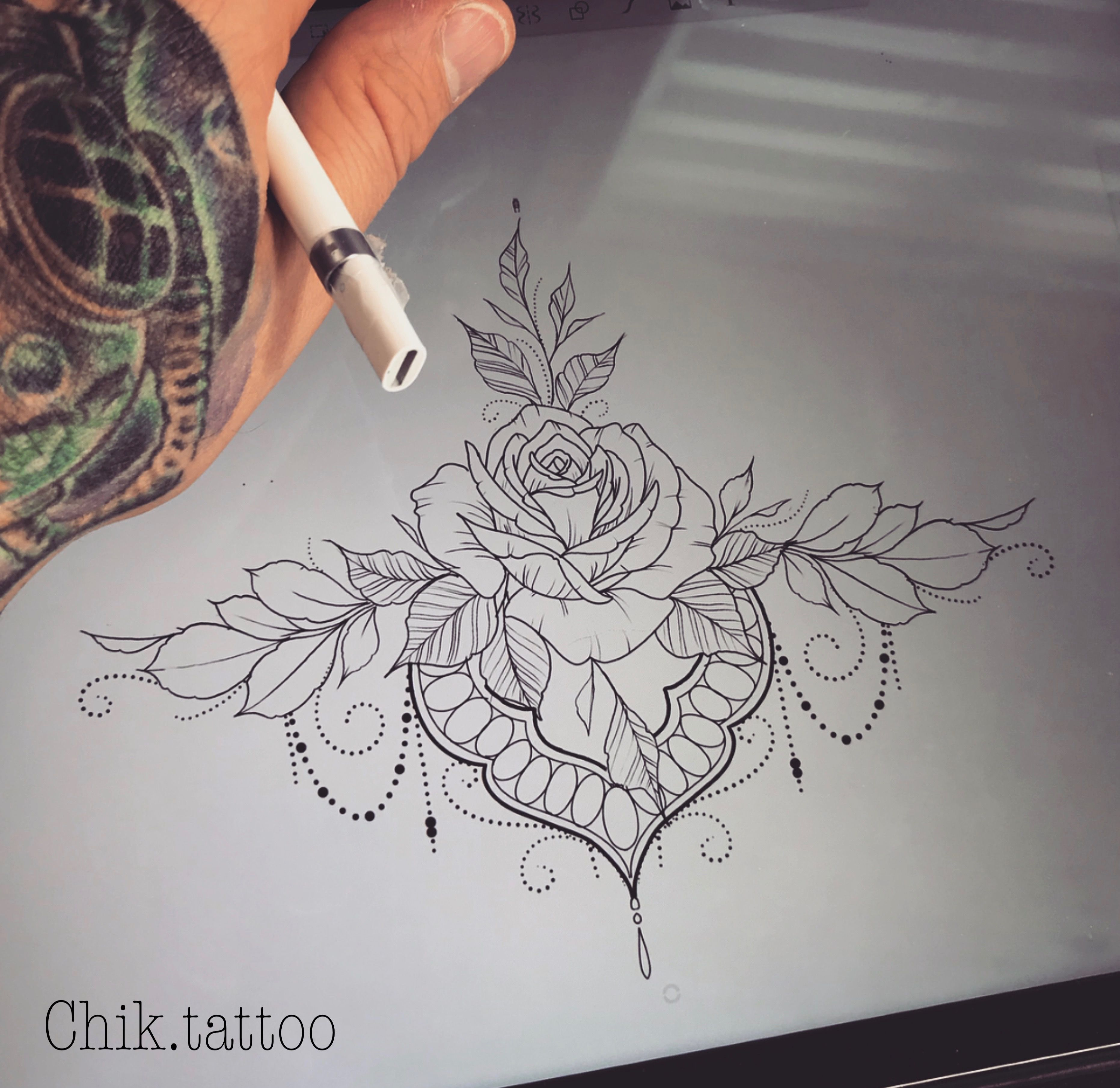 4815a24f5 lotus mandala flower tattoo rose lace underboob | Art <3 | Mandala ...
