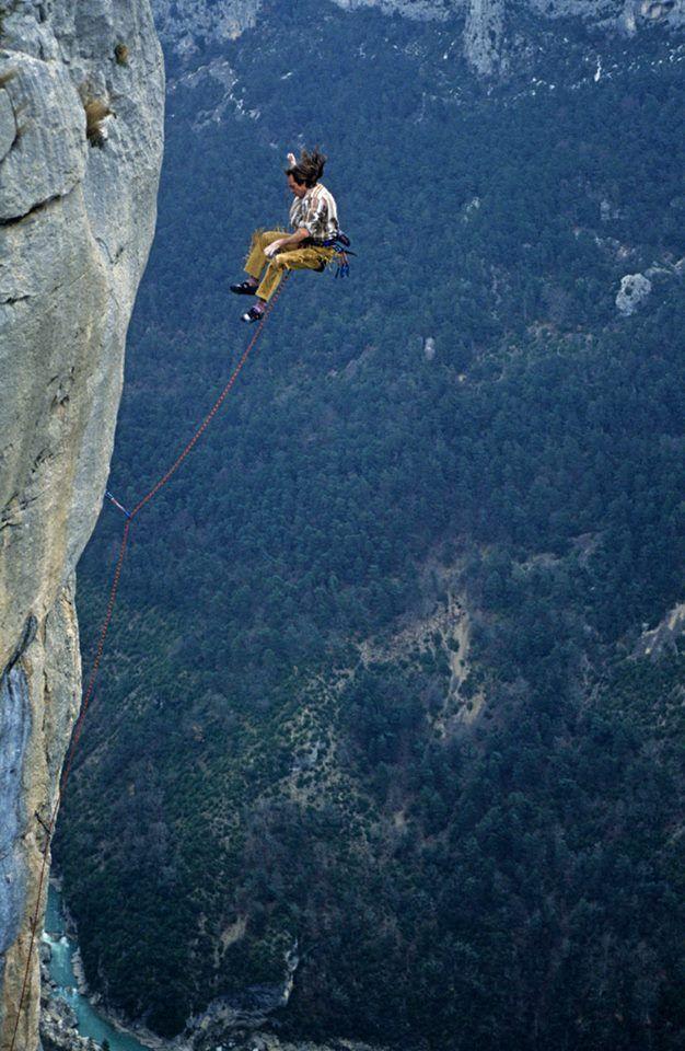 Alain Robert Verdon Gorge Climbing Leadclimb Climbfall Rock Climbing Photography Rock Climbing Techniques Extreme Climbing