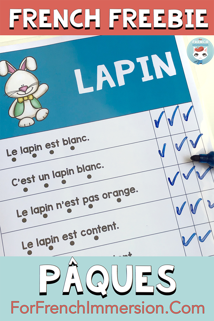 French Easter Reading Fluency Practice FREEBIE   Reading ...