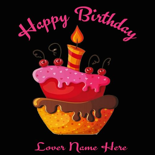 Write Name On Beautiful Birthday Cards Greetings For Lover. Online ...