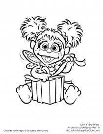 Abby Cadabby Coloring Pages Kids Sesame Street Coloring Pages