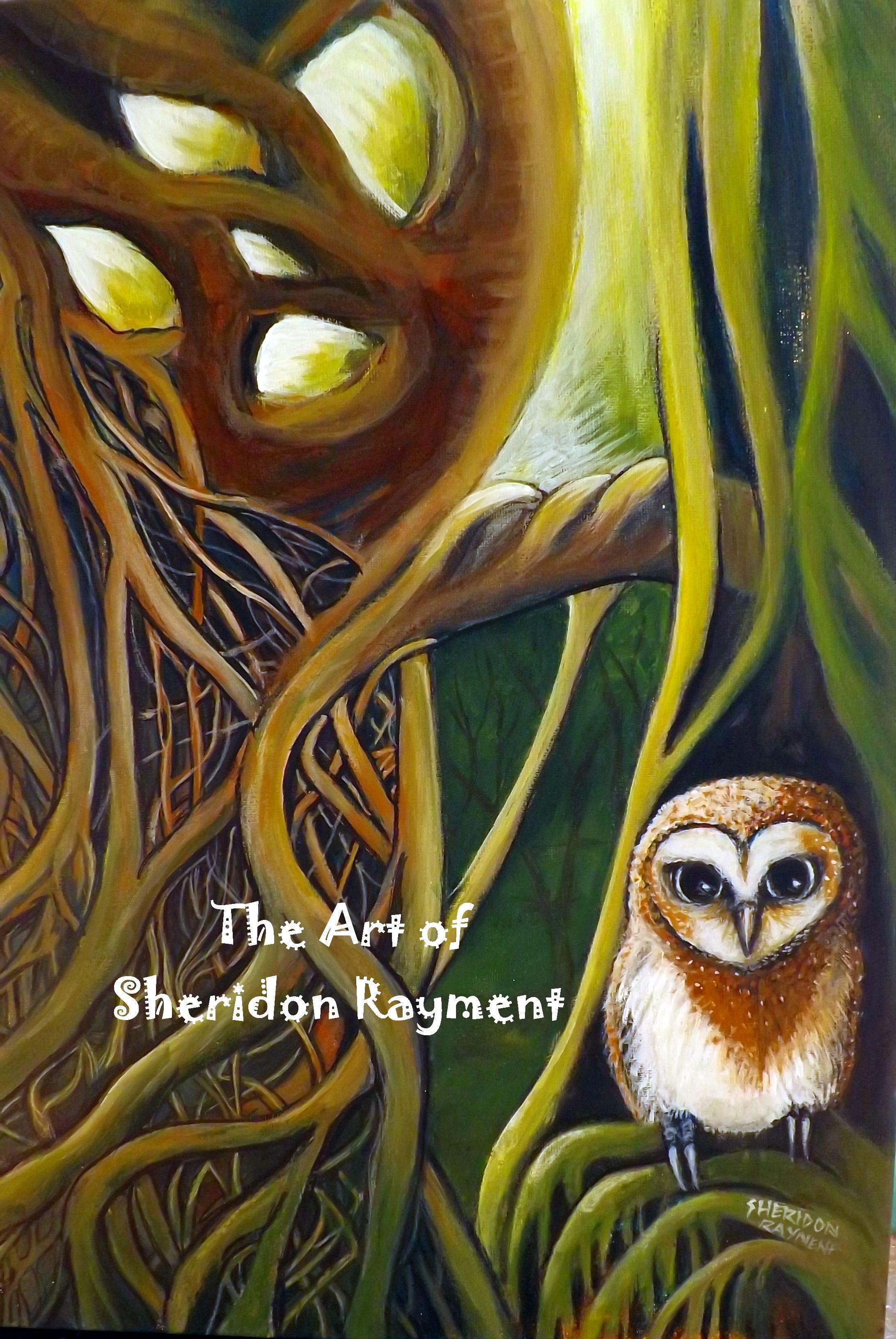 Owl greeting card set welsh artist jen delyth celtic art studio - Blue Moon Owl The Faraway Tree By Sheridon Rayment